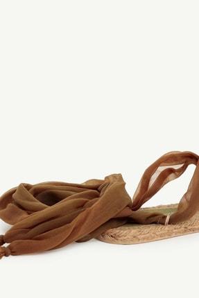 Yargıcı Kadın Haki Jut Tabanlı Kumaş Sandalet 0YKAY4009X 2