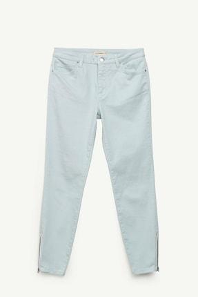 Yargıcı Kadın Buz Mavisi Fermuar Detaylı Denim Pantolon 0YKPN3132X 3