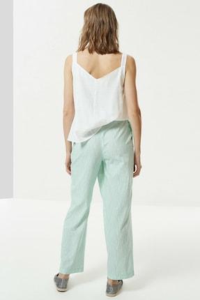 Yargıcı Kadın Nil Yeşili Toka Detaylı Pantolon 0YKPN3112X 3
