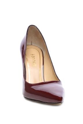 Kemal Tanca Bordo Kadın Vegan Stiletto Ayakkabı 723 5064 BN AYK Y19 1