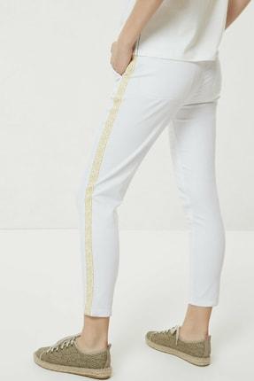 Yargıcı Kadın Beyaz Nakış Detaylı Denim Pantolon 0YKPN3123X 4