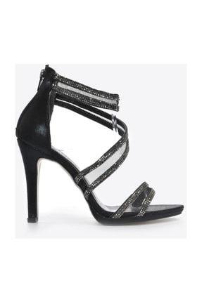 Kadın  Siyah Slt Klasik Topuklu Ayakkabı VZN20-036Y resmi