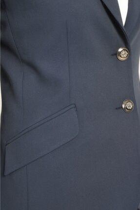 Journey Kadın Lacivert Ceket Mono Yaka-üst Cep Nakış Detaylı, Ön 2 Düğme 3