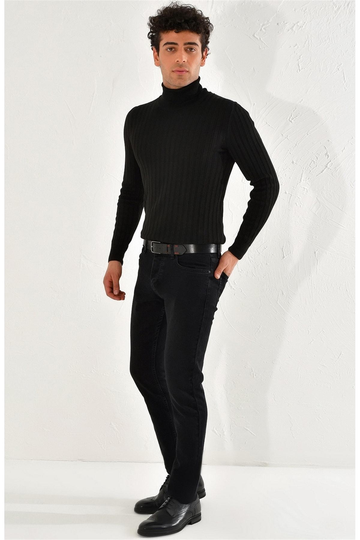 Efor 053 Slim Fit Siyah Jean Pantolon 1
