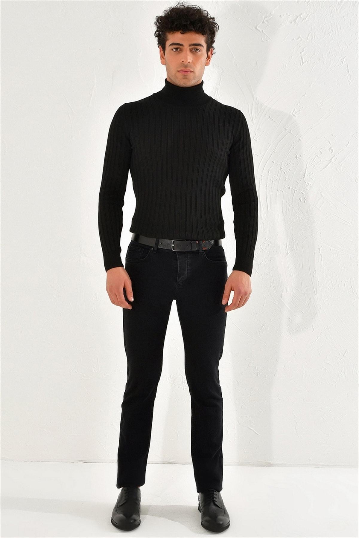 Efor 053 Slim Fit Siyah Jean Pantolon 0