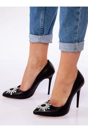 ayakkabıhavuzu Kadın Siyah Klasik Topuklu Ayakkabı 1