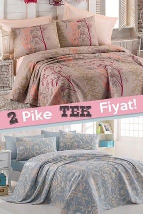 Ev & Ev Home 2li Pike Çift Kişilik Urla + Tuval Mavi 0