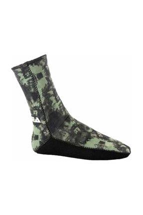 Apnea 5mm Içi Dışı Jarse Çorap Kamuflaj 0