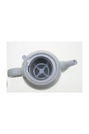 Porland Porselen Kapaklı Gümüş Model Süzgeçli Demlik 2