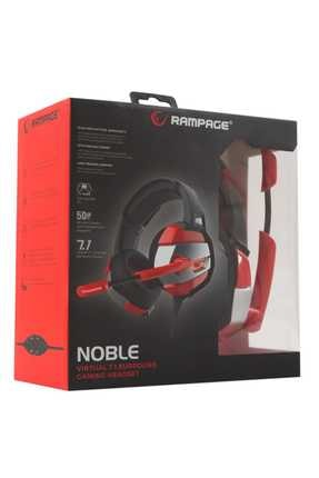 Rampage RM-K5 Noble 7.1 Surround Sound System USB Mikrofonlu Oyuncu Kulaklığı Siyah/Kırmızı 4