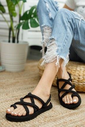 Muggo Rymw614 Kadın Hasır Sandalet Hediye 3