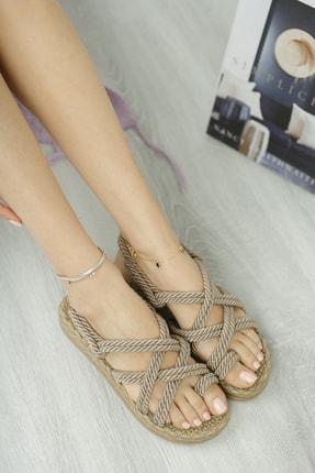 Muggo Rymw614 Kadın Hasır Sandalet 0