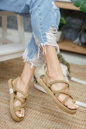 Muggo Rymw614 Kadın Hasır Sandalet 3
