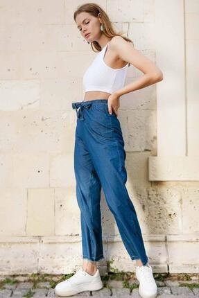 Pattaya Kadın Beli Lastikli Kot Pantolon Y20s110-6469 2