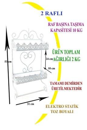 Ferforje Naz tasarım NAZ TASARIM FERFORJE DEKORASYON BANYO & MUTFAK RAFI BEYAZ 1