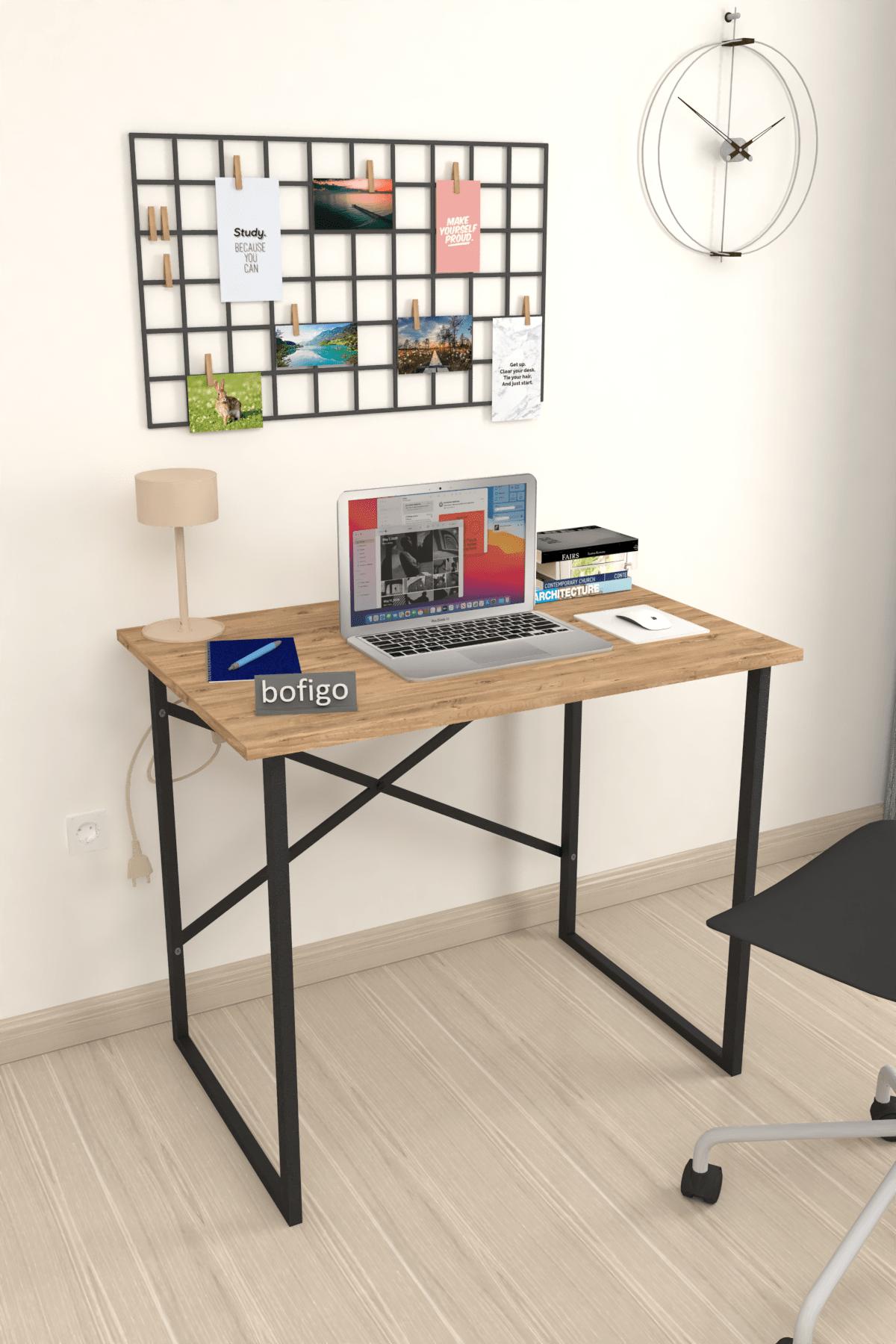 Bofigo Çam Çalışma Masası Laptop Bilgisayar Masası Ofis Ders Yemek Cocuk Masası 60x90 cm 0