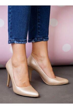 ayakkabıhavuzu Kadın Altın Topuklu Ayakkabı  1232756 4