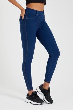 Meis Pantolon Görünümlü Yıkamalı Tayt 4