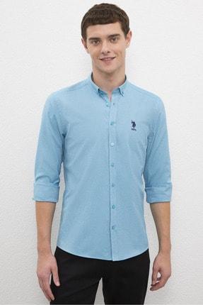 US Polo Assn Erkek Mavı Gömlek G081Gl004.000.1208586 0