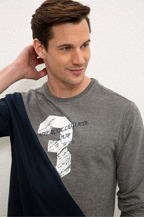 US Polo Assn Gri Erkek Sweatshirt G081SZ082.000.1219416 1