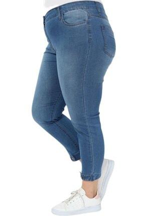 Hanezza Kadın  Paça Düğme Ve Kemer Detay Bilek Boy Kot Pantolon 1