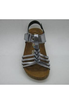 Toddler Kız Çocuk Doğal Deri,anatomik Mantar Taban Örgülü Sandalet 26 01317 2