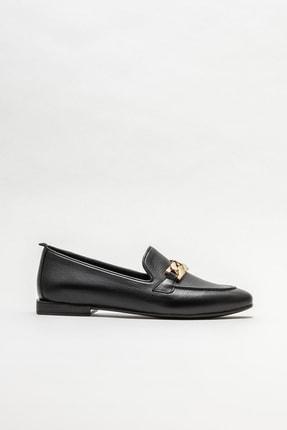 Elle Kadın Siyah Deri Loafer 0