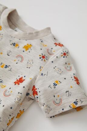 Defacto Erkek Bebek Desenli Kısa Kol Pijama Takımı 3