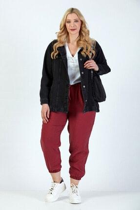 Büyük Moda Kadın Antasit Kot Ceket 1