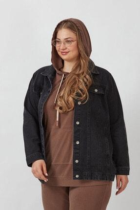 Büyük Moda Kadın Antasit Kot Ceket 4