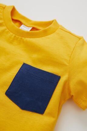 Defacto Erkek Bebek Baskılı 2'li Kısa Kol Pamuklu Tişört 3
