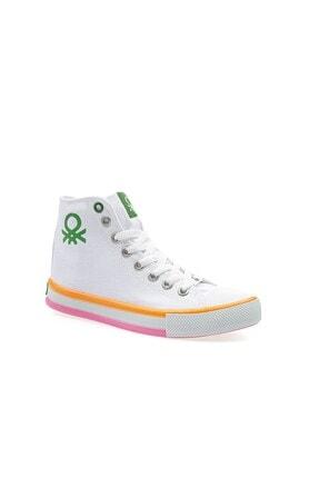 Benetton Kadın   Beyaz Turuncu  Spor Ayakkabı 30189 2