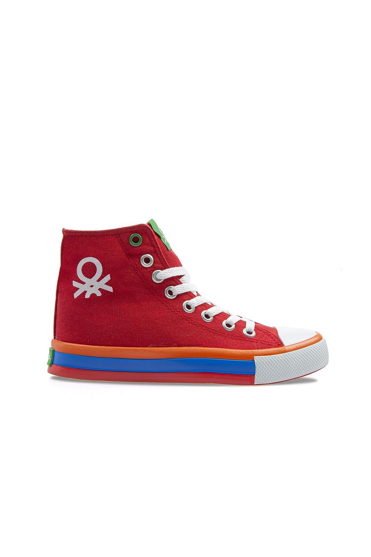 Kadın Kırmızı Bağcıklı Spor Ayakkabı