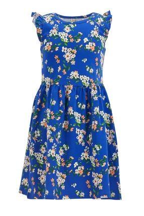 Defacto Kız Çocuk Çiçek Desenli Kolsuz Elbise 0