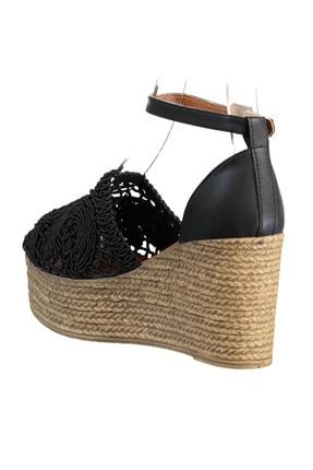 Soho Exclusive Siyah Kadın Dolgu Topuklu Ayakkabı 16041 3