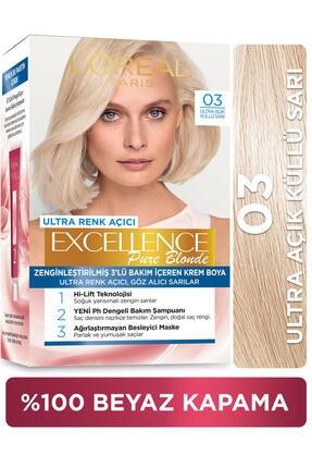 L'Oreal Paris Excellence Creme Saç Boyası - 03 Ultra Açık Küllü Sarı 0