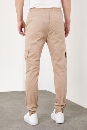 Enuygunenmoda Erkek Slim Fit Jogger Pantolon Bej 4