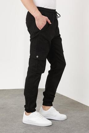 Enuygunenmoda Erkek Slim Fit Jogger Pantolon Siyah 1
