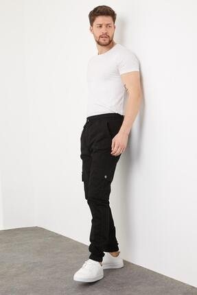 Enuygunenmoda Erkek Slim Fit Jogger Pantolon Siyah 3