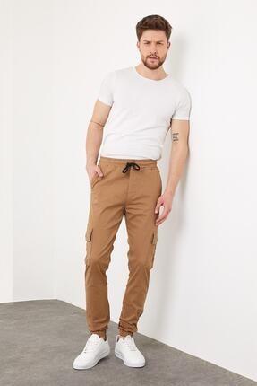 Enuygunenmoda Erkek Slim Fit Jogger Pantolon Sütlü Kahve 3