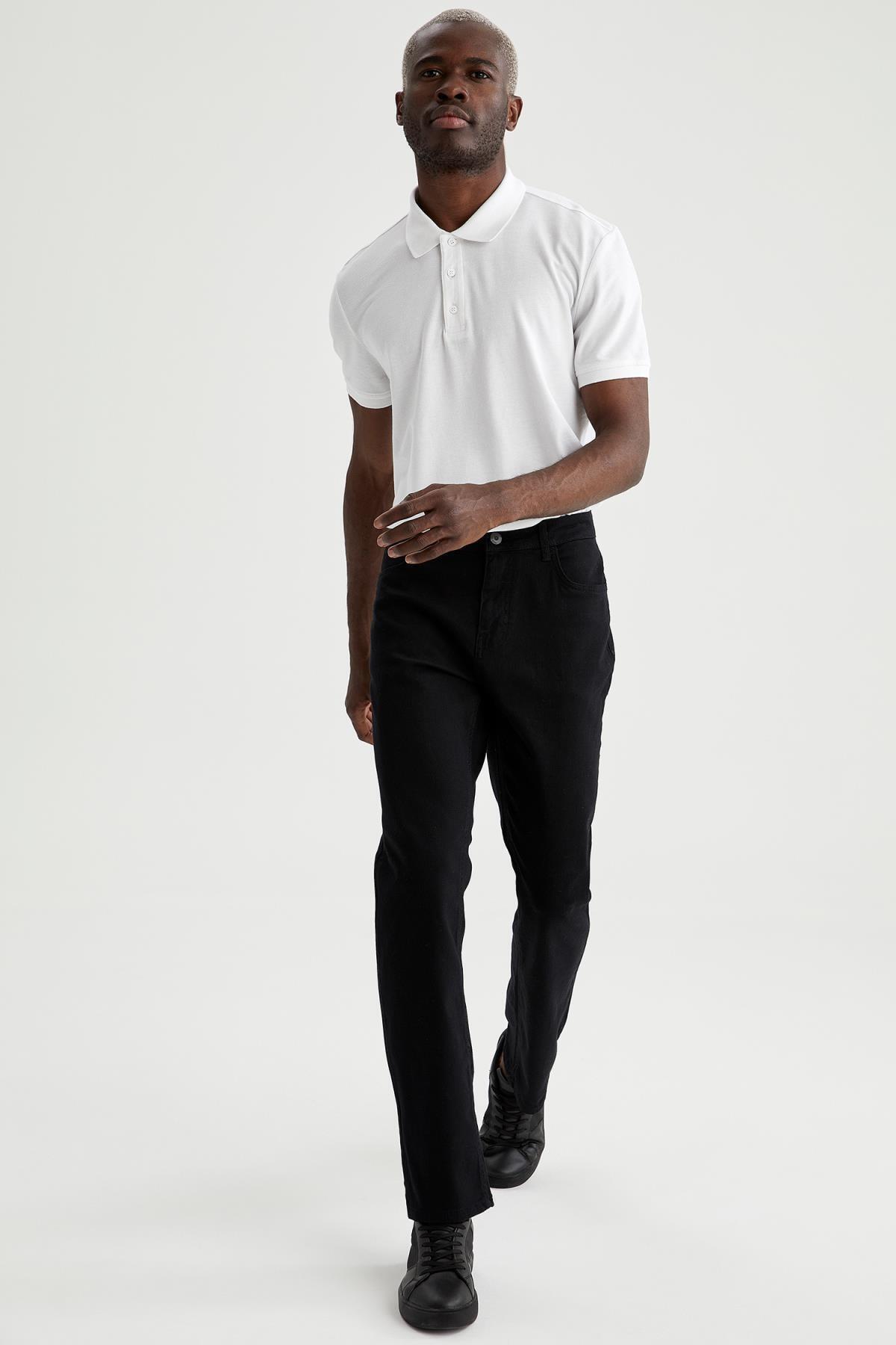 Defacto Diago Comfort Fit Yüksek Bel Boru Paça Siyah Jean Pantolon