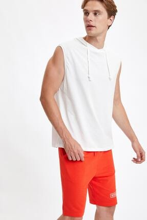 Defacto Slim Fit Basic Kapüşonlu Kolsuz Tişört 0