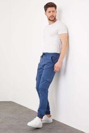 Enuygunenmoda Erkek Slim Fit Jogger Pantolon Mavi 2