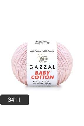 Gazzal Baby Cotton Amigurumi Ipi 50 Gr El Örgü Ipi Punch Ipi 3411 Pamuk+akrilik Örgü Ipi 0