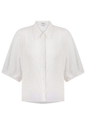 İpekyol Puantiye Baskılı Vual Bluz 4