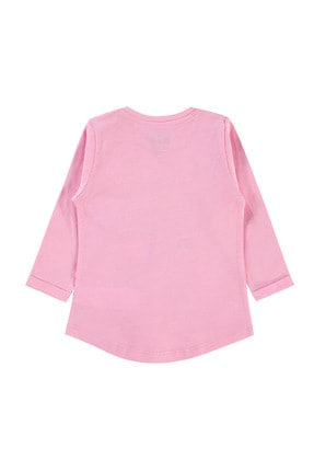 Kujju Kız Bebek Pembe Sweatshirt 2