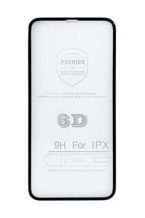Unipha iPhone X Uyumlu 6D Temperli Cam Full Ekran Koruyucu Siyah 1