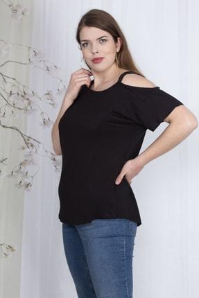 Şans Kadın Siyah Payet Askılı Bluz 65N23562 0