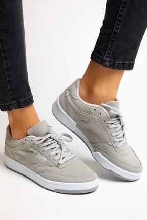 Tonny Black Gri Süet Unisex Sneaker TB107-0 1