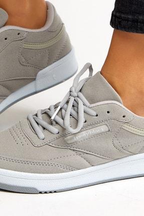 Tonny Black Gri Süet Unisex Sneaker TB107-0 2